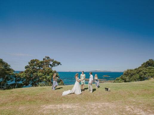 A clifftop wedding